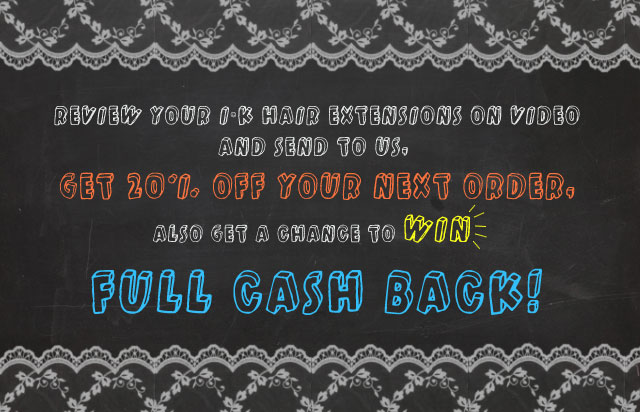 WIN Full Cash Back & 20% Off Your Next Order!
