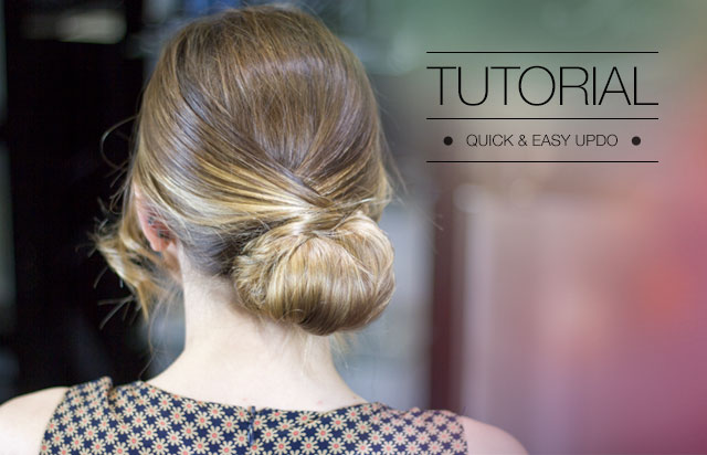 quick & easy updo 1
