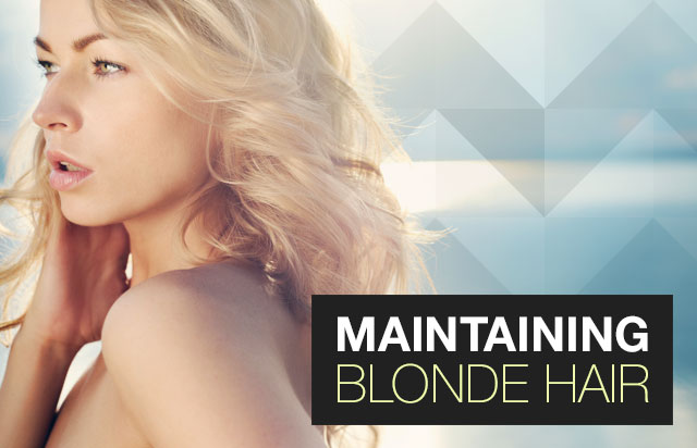 Maintaining Blonde Hair