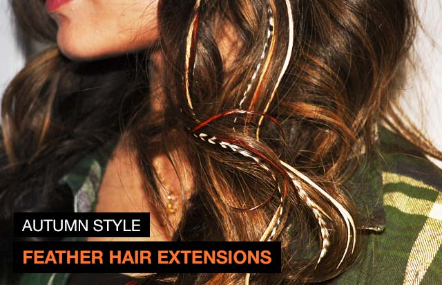 Autumn style: feather hair extensions