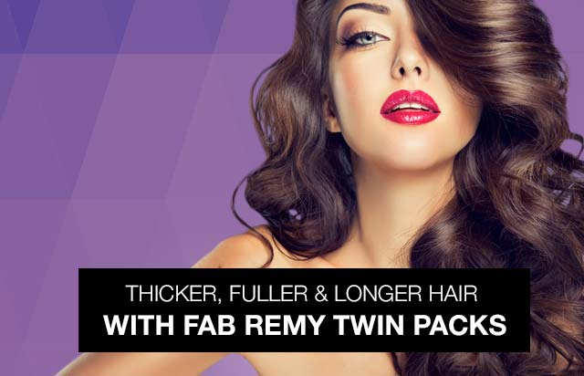 Thicker, fuller & longer hair with twin packs