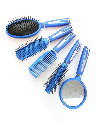 5 Pieces Brush Set - Blue