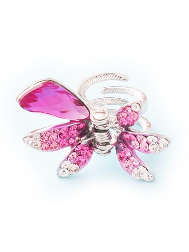 Hair Claw Clips - Ribbon (Pink)