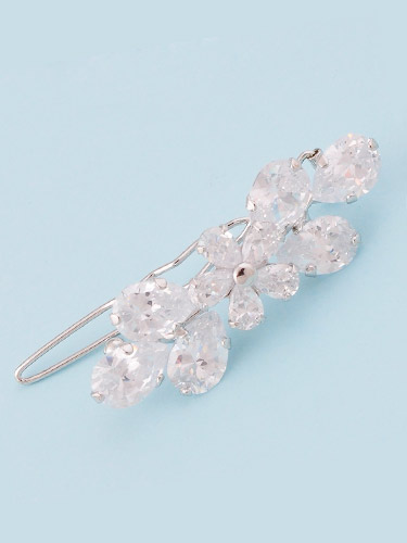 Hair Clips - Clear Flower