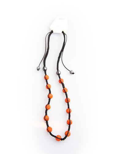 Crystal Bead Necklace - Orange