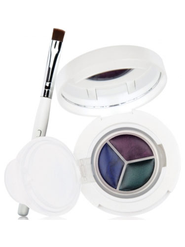 New CID I-Gel Long Wear Gel Eye Liner Trio With Brush - Emerald Indigo Midnight Blue