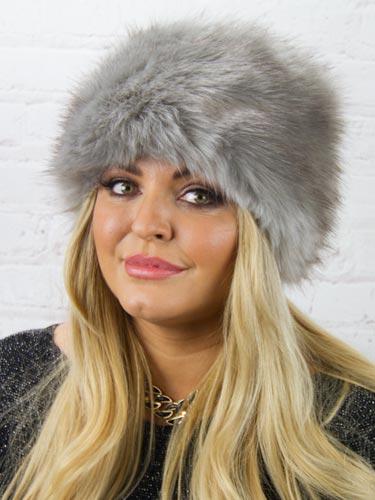 Luxury Faux Fur Hat  Grey