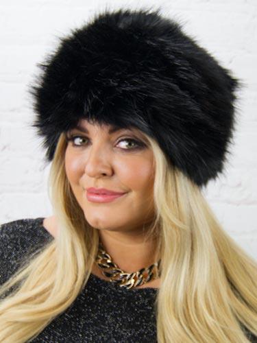 Luxury Faux Fur Hat  Black