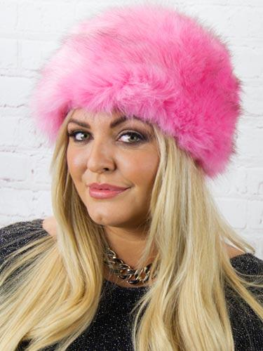 Luxury Faux Fur Hat  Pink