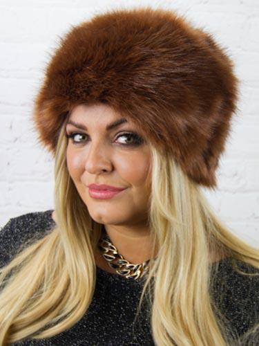 Luxury Faux Fur Hat  Coffee