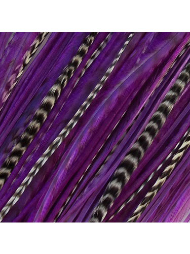 AD Feather Hair Extension #Purple