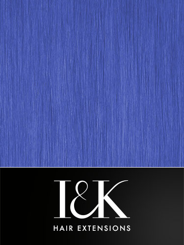 I&K Clip In Human Hair Fringe - Highlight #Blue