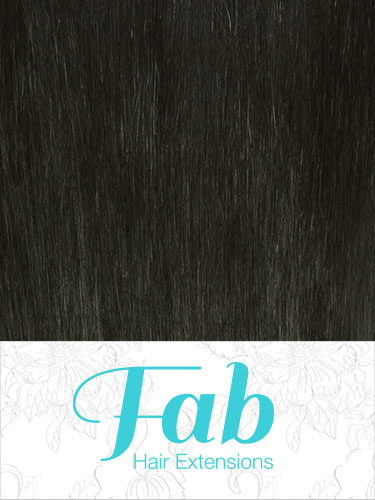 Fab Clip In Remy Hair Extensions - Full Head #1B-Natural Black 18 inch