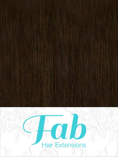 Fab Clip In Remy Hair Extensions - Full Head #2-Darkest Brown 20 inch