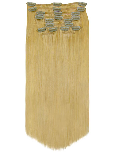 Fab Clip In Remy Hair Extensions - Full Head #24-Light Blonde 22 inch
