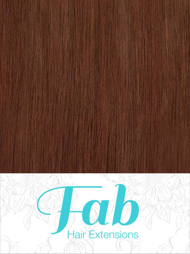 Fab Clip In Remy Hair Extensions - Full Head #33-Rich Copper Red 15 inch