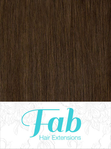 Fab Clip In Remy Hair Extensions - Full Head #4-Chocolate Brown 22 inch