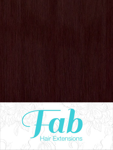 Fab Clip In Remy Hair Extensions - Full Head #99J-Wine Red 26 inch