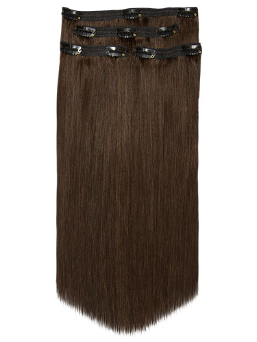 Fab Clip In Lace Weft Remy Hair Extensions - Full Head #4-Chocolate Brown 20 inch 70g