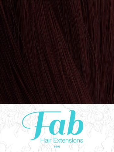 Fab Clip In One Piece Synthetic Hair Extensions #99J 18 inch