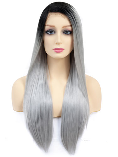 Fab Millie Super Sleek Straight Natural Wig #Silver