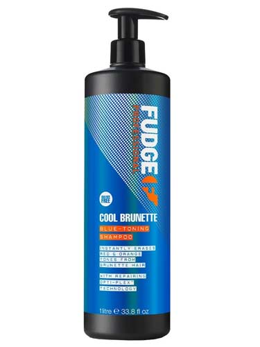 Fudge Cool Brunette Blue Toning Shampoo (1000ml)
