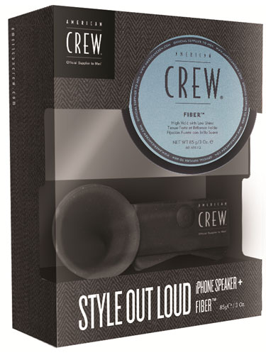 American Crew Style Out Loud Gift Pack (Fiber and iPhone Speaker)