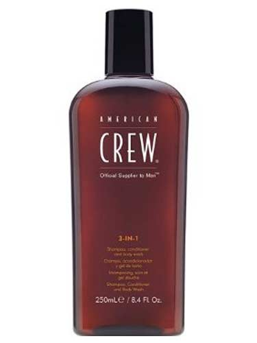 American Crew 3-in-1 Shampoo, Conditioner & Body Wash (250ml)
