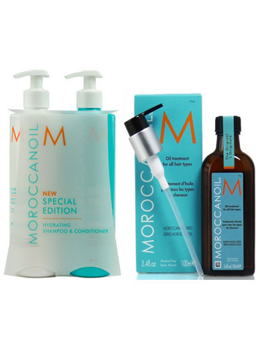 Moroccanoil Hydrating Pack (2 x 500ml, 1 x 100ml)