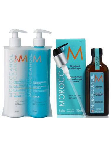Moroccanoil Moisture Repair Pack (2 x 500ml, 1 x 100ml)