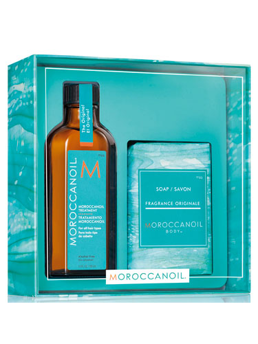 Moroccanoil Simply Beautiful Treatment Oil and Soap Gift Set