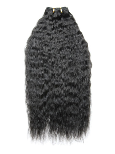 I&K Brazilian Wave Human Hair Extensions 18 inch #1B-Natural Black