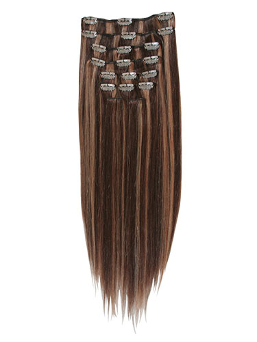 I&K Clip In Human Hair Extensions - Full Head #4/27 14 inch