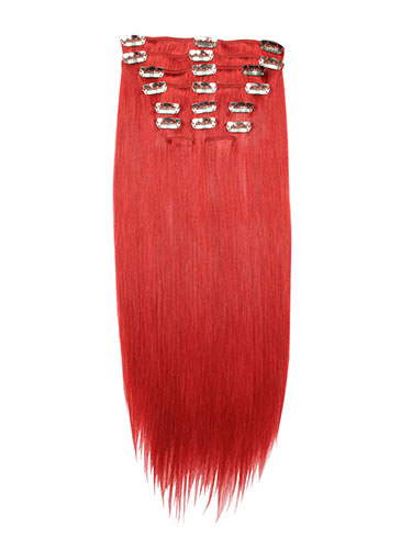 I&K Clip In Human Hair Extensions - Full Head #Red 18 inch