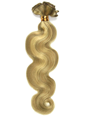 I&K Clip In Human Hair Extensions - Body Wave - Full Head #10/16 18 inch