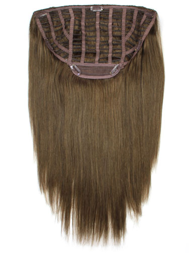 I&K Instant Clip In Hair Extensions - Full Head #4-Chocolate Brown 18 inch