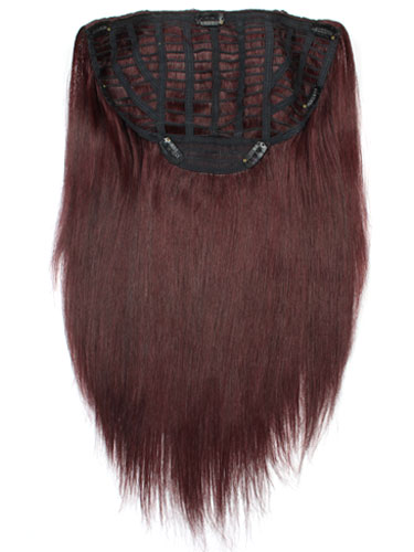 I&K Instant Clip In Hair Extensions - Full Head #99J-Wine Red 18 inch