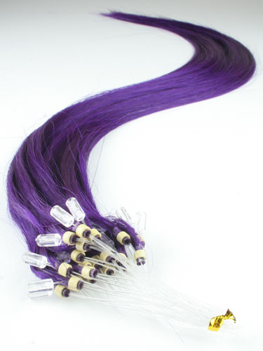 I&K Micro Loop Ring Human Hair Extensions #Purple 22 inch