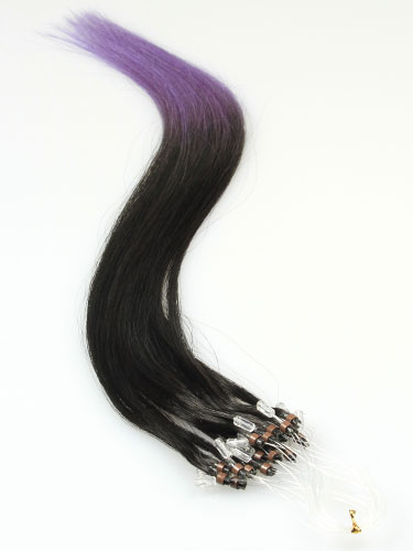 I&K Micro Loop Ring Human Hair Extensions #T2/Lavender 22 inch
