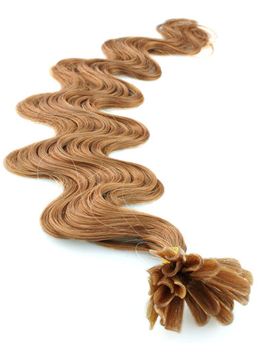I&K Pre Bonded Nail Tip Human Hair Extensions - Body Wave #27-Strawberry Blonde 18 inch