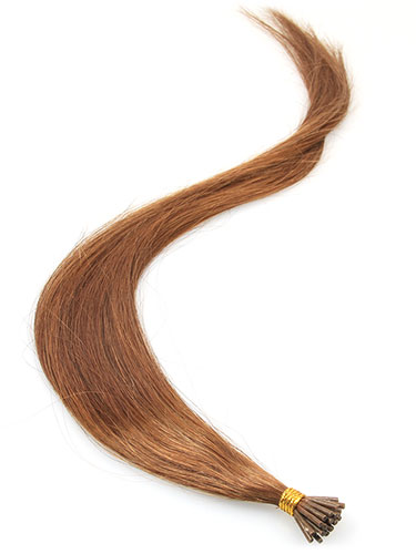 I&K Pre Bonded Stick Tip Human Hair Extensions #6-Medium Brown 18 inch