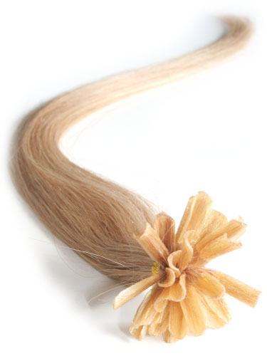 I&K Pre Bonded Nail Tip Human Hair Extensions #22-Medium Blonde 14 inch