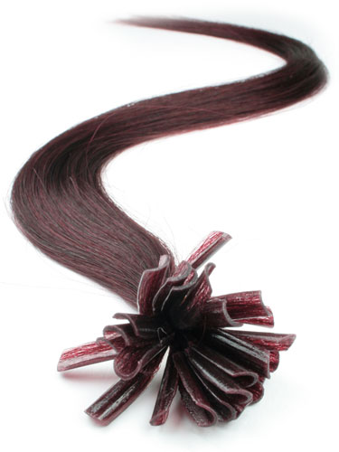 I&K Pre Bonded Nail Tip Human Hair Extensions #99J-Wine Red 18 inch