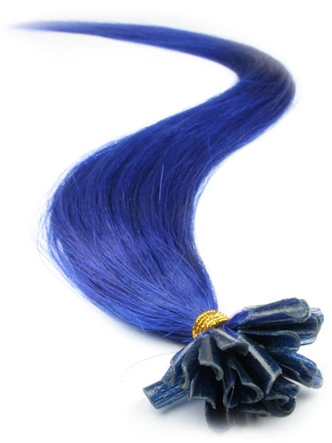 I&K Pre Bonded Nail Tip Human Hair Extensions #Blue 22 inch
