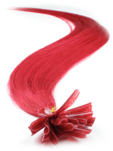 I&K Pre Bonded Nail Tip Human Hair Extensions #Red 22 inch