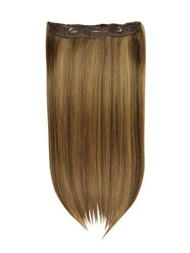 I&K Clip In Synthetic One Piece Hair Extensions #4/27 24 inch