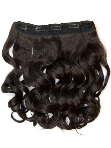 I&K Clip In Synthetic One Piece Hair Extensions - Body Wave #2-Darkest Brown 24 inch