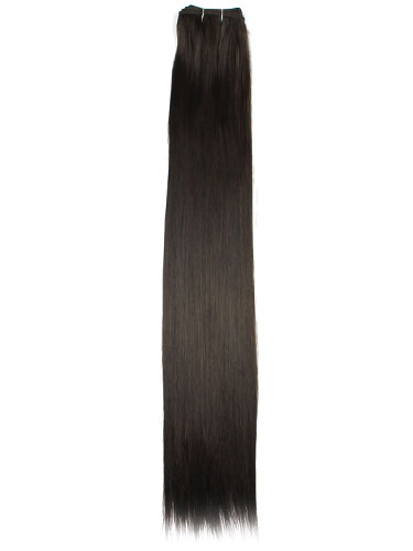 I&K Synthetic 250°C Hair Weft #2-Darkest Brown 22 inch