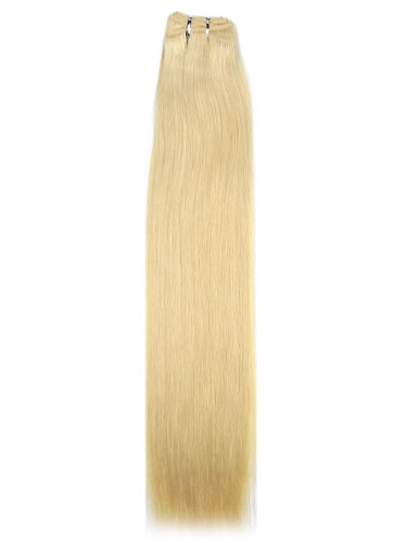 I&K Cuticle Weft Remy Hair Extensions #613-Lightest Blonde 22 inch