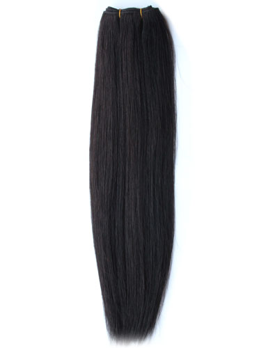 I&K Silky Weaves Human Hair Extensions #1B-Natural Black 14 inch